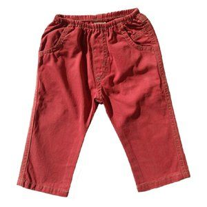 Charlie Rocket Baby Boy Twill Pants Red